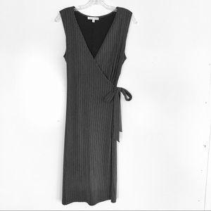 Moa Moa Faux Wrap Sleeveless Dress size Large
